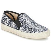 kengät Naiset Espadrillot Spiral VIRGINIA Black / White