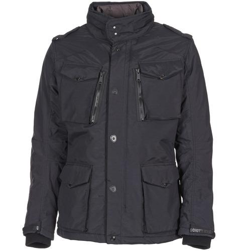 vaatteet Miehet Parkatakki Schott FIELD Black
