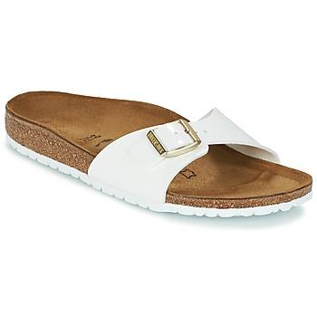 kengät Naiset Sandaalit Birkenstock MADRID White / Kulta