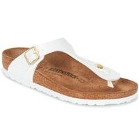 kengät Naiset Varvassandaalit Birkenstock GIZEH White / Gold