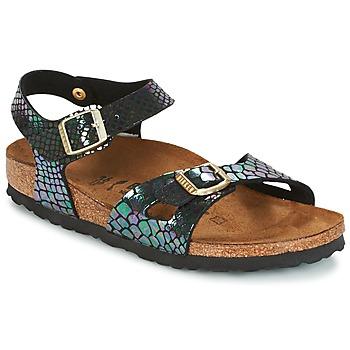 kengät Lapset Sandaalit ja avokkaat Birkenstock RIO Black / Brillant