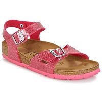 kengät Lapset Sandaalit ja avokkaat Birkenstock RIO Pink / Paljetti