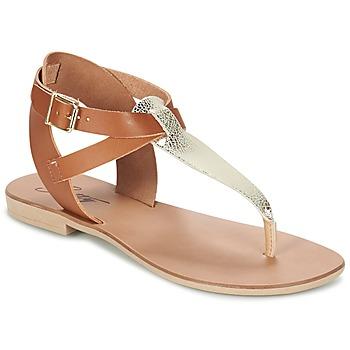 kengät Naiset Sandaalit ja avokkaat Betty London VITAMO CAMEL / Gold