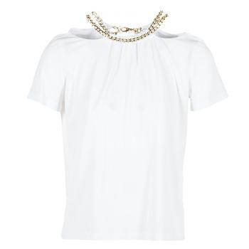 vaatteet Naiset Topit / Puserot Versace Jeans B2HPB721 White