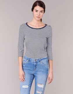 vaatteet Naiset T-paidat pitkillä hihoilla Vero Moda MARLEY Laivastonsininen / White