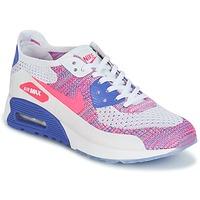 kengät Naiset Matalavartiset tennarit Nike AIR MAX 90 FLYKNIT ULTRA 2.0 W White / Blue / Pink