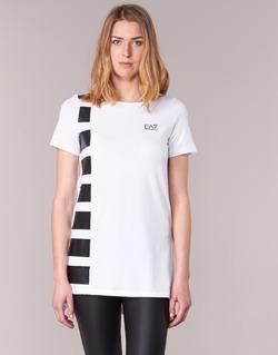vaatteet Naiset Tunika Emporio Armani EA7 TRAIN MASTER White / Black