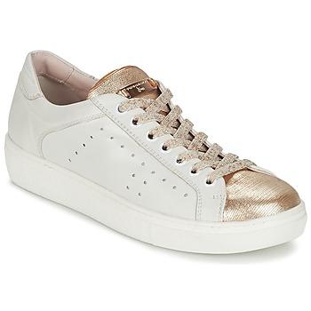 kengät Naiset Matalavartiset tennarit Tosca Blu  White / Gold