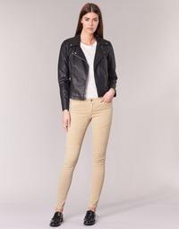 vaatteet Naiset 5-taskuiset housut Noisy May EVE Beige