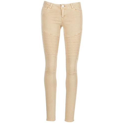 Noisy May Eve Beige - Ilmainen Toimitus- Vaatteet 5-taskuiset Housut Naiset 25