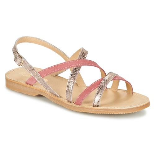 kengät Tytöt Sandaalit ja avokkaat Citrouille et Compagnie GENTOU Pink / Hopea