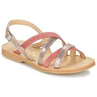 kengät Tytöt Sandaalit ja avokkaat Citrouille et Compagnie GENTOU Pink / Silver