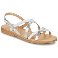 kengät Tytöt Sandaalit ja avokkaat Citrouille et Compagnie GENTOU White / Hopea