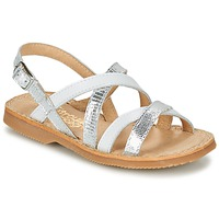 kengät Tytöt Sandaalit ja avokkaat Citrouille et Compagnie GENTOU White / Silver