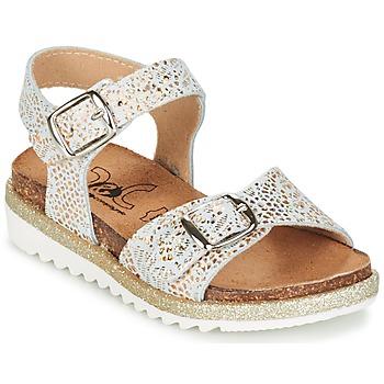kengät Tytöt Sandaalit ja avokkaat Citrouille et Compagnie GAUFRETTE Gold / White
