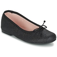 kengät Tytöt Balleriinat Citrouille et Compagnie GLIGLO Black / Paljetti
