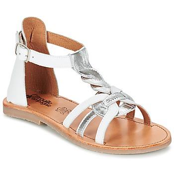 kengät Tytöt Sandaalit ja avokkaat Citrouille et Compagnie GITANOLO White / Hopea