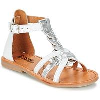 kengät Tytöt Sandaalit ja avokkaat Citrouille et Compagnie GITANOLO White / Silver