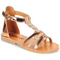 kengät Tytöt Sandaalit ja avokkaat Citrouille et Compagnie GITANOLO BEIGE / Cuivré