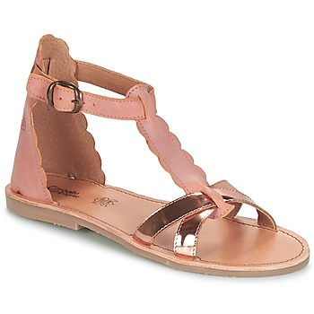 kengät Tytöt Sandaalit ja avokkaat Citrouille et Compagnie GUBUDU Pink / Kulta