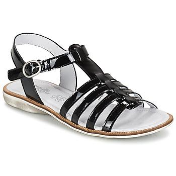 kengät Tytöt Sandaalit ja avokkaat Citrouille et Compagnie GROUFLA Black