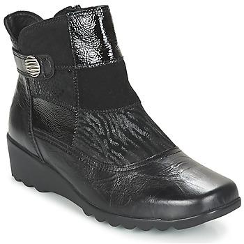 kengät Naiset Nilkkurit Romika Carree 16 Musta
