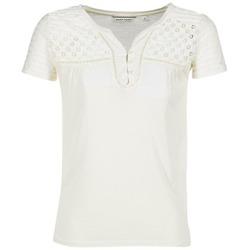 vaatteet Naiset Lyhythihainen t-paita Naf Naf OPARI ECRU