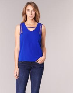 vaatteet Naiset Hihattomat paidat / Hihattomat t-paidat Naf Naf OPIPA Blue