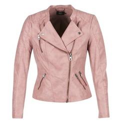 vaatteet Naiset Nahkatakit / Tekonahkatakit Only AVA Pink