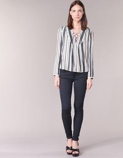 vaatteet Naiset 5-taskuiset housut Only ELENA Laivastonsininen