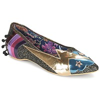 kengät Naiset Balleriinat Irregular Choice GROUND CONTROL Black / Gold