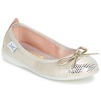 kengät Tytöt Balleriinat Citrouille et Compagnie GRAGON Beige / Paljetti