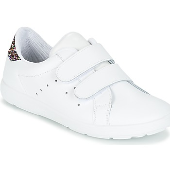 kengät Tytöt Matalavartiset tennarit Citrouille et Compagnie GRANOU White / Paljetti