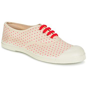 kengät Naiset Matalavartiset tennarit Bensimon TENNIS MINIPOIS ECRU / Pink