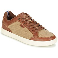 kengät Miehet Matalavartiset tennarit Kickers AART HEMP Brown / Beige