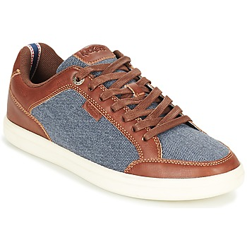 kengät Miehet Matalavartiset tennarit Kickers AART HEMP Brown / Blue