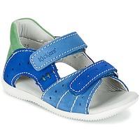 kengät Pojat Sandaalit ja avokkaat Kickers BOPING Blue / Green