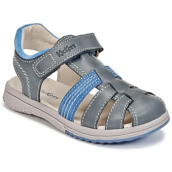 kengät Pojat Sandaalit ja avokkaat Kickers PLATINIUM Blue / Fonce / Blue