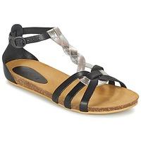 kengät Tytöt Sandaalit ja avokkaat Kickers BOMTARDES Silver / Black