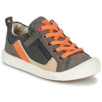kengät Pojat Matalavartiset tennarit Kickers ZIGZAGUER Grey / Orange