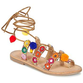 kengät Naiset Sandaalit ja avokkaat Les Tropéziennes par M Belarbi OREA Brown / Monivärinen