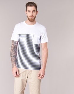 vaatteet Miehet Lyhythihainen t-paita Jack & Jones APRIL CORE White / Laivastonsininen