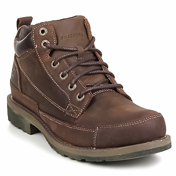 kengät Miehet Bootsit Skechers SHOCKWAVES REGIONS Brown