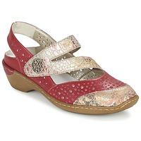 kengät Naiset Sandaalit ja avokkaat Rieker KOLIPEDI Red / Gold