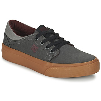 kengät Lapset Matalavartiset tennarit DC Shoes TRASE TX B SHOE XSSR Grey / Red