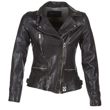 vaatteet Naiset Nahkatakit / Tekonahkatakit Oakwood 62065 Black
