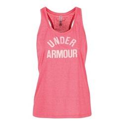 vaatteet Naiset Hihattomat paidat / Hihattomat t-paidat Under Armour THREADBORNET TWIST GRAPHIC Pink