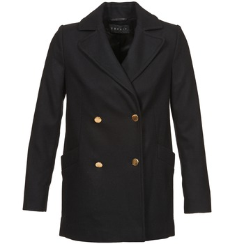 vaatteet Naiset Paksu takki Esprit WATTS Musta