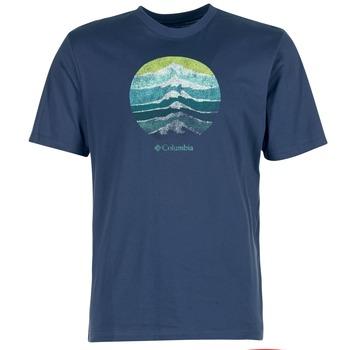 vaatteet Miehet Lyhythihainen t-paita Columbia CSC MOUNTAIN SUNSET Blue