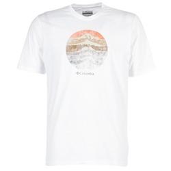 vaatteet Miehet Lyhythihainen t-paita Columbia CSC MOUNTAIN SUNSET White